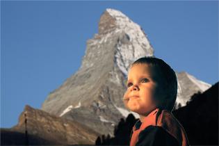 Bébé à la montagne